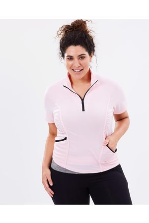 Curvy Chic Sports Stay Cool Short Sleeve Top - T-Shirts & Singlets (Blush) Stay Cool Short Sleeve Top