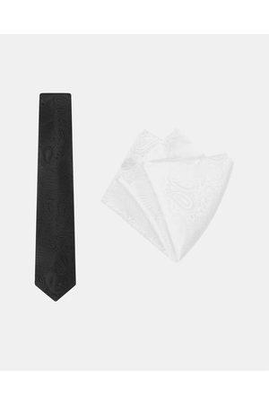 Buckle Paisley Tie & Pocket Square Set - Ties ( / ) Paisley Tie & Pocket Square Set