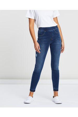 Spanx Distressd Skinny Jeans - Jeans (Medium Wash) Distressd Skinny Jeans