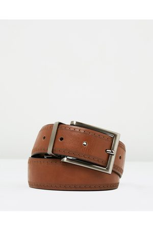 Yd. Miles Brogue Belt - Belts Miles Brogue Belt