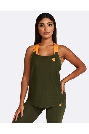 Nicky Kay Mesh Tank - T-Shirts & Singlets (Khaki) Mesh Tank