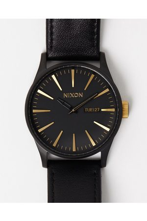 Nixon Watches - The Sentry Leather - Watches (Matte & ) The Sentry Leather