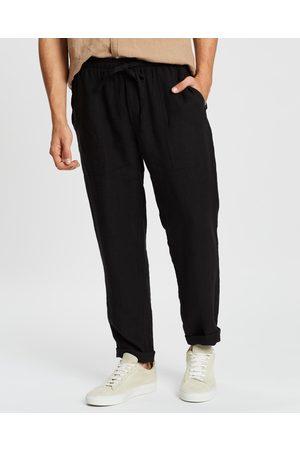 AERE Linen Pull On Pants - Pants Linen Pull-On Pants