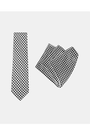 Buckle Vintage Tie & Pocket Square Set - Ties (Check) Vintage Tie & Pocket Square Set