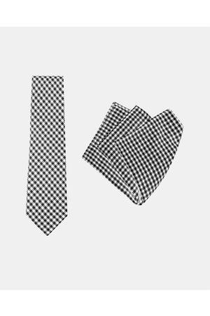 Buckle Vintage Tie & Pocket Square Set - Ties (Check) Vintage Tie & Pocket Square Set