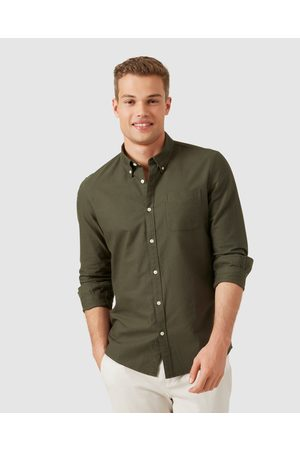 French Connection Oxford Slim Fit Shirt - Casual shirts (MILITARY ) Oxford Slim Fit Shirt