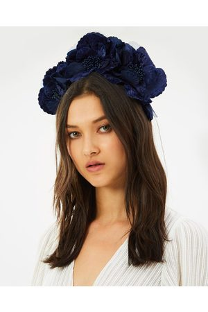 Fillies Collection Flower Halo - Fascinators (Navy) Flower Halo