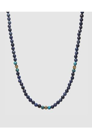 Nialaya Men's Beaded Multi Stone Necklace - Jewellery Men's Beaded Multi-Stone Necklace