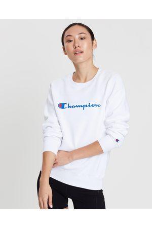 Champion Script Crew Sweatshirt - Sweats Script Crew Sweatshirt