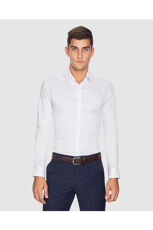 Yd. Plain Stretch Slim Fit Shirt - Shirts & Polos Plain Stretch Slim Fit Shirt