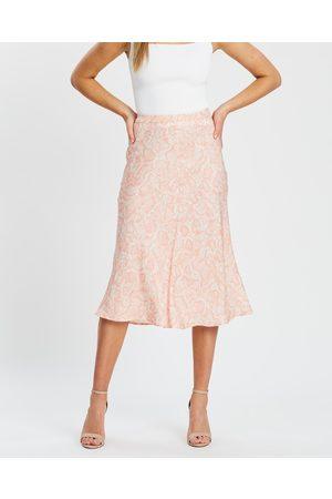 White By FTL Felicity Skirt - Skirts (Peach Snake) Felicity Skirt