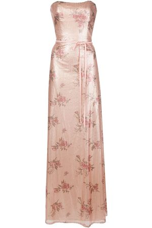 Marchesa Notte Bridesmaid floral-printed sequin gown