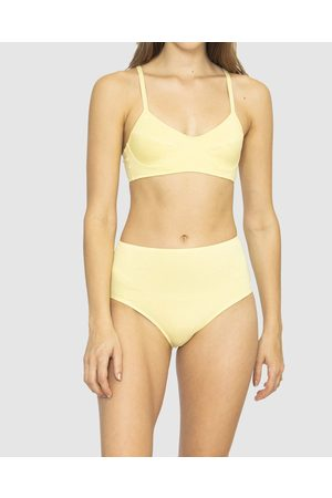 NICO Plant Dyed Organic Cotton Mid Rise Briefs - Briefs (Lemon) Plant Dyed Organic Cotton Mid Rise Briefs