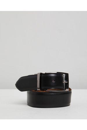 Double Oak Mills Reversible Leather Belt - Belts ( & Tan) Reversible Leather Belt