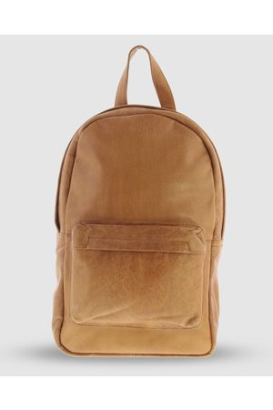 Cobb & Co Byron Jr. Soft Leather Backpack - Bags (Tan) Byron Jr. Soft Leather Backpack