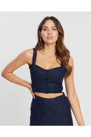 White By FTL Lissie Top - Cropped tops (Navy) Lissie Top