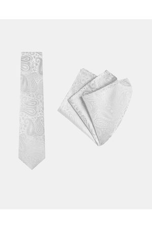 Buckle Paisley Tie & Pocket Square Set - Ties Paisley Tie & Pocket Square Set