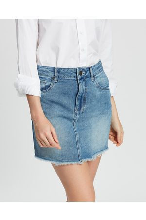 DRICOPER DENIM Vintage Cut Off Skirt - Denim skirts (Rock Steady) Vintage Cut-Off Skirt