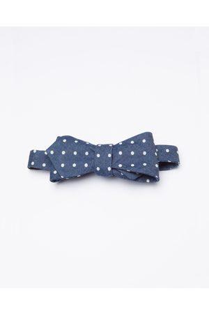 RUMI Denim Self Made Bow Tie - Ties (Navy) Denim Self-Made Bow Tie
