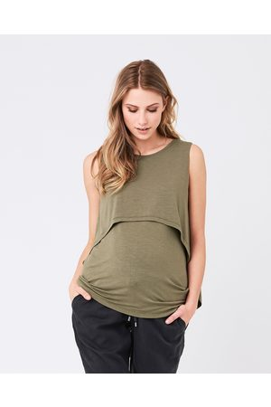 Ripe Maternity Summer Swing Back Nursing Tank - T-Shirts & Singlets (Olive) Summer Swing Back Nursing Tank