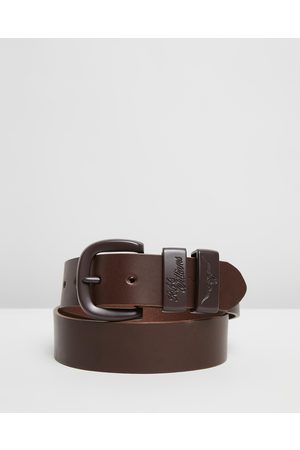 "R.M.Williams ​Drover 1 1 2"" Belt - Belts (Chocolate) ​Drover 1 1-2"" Belt"
