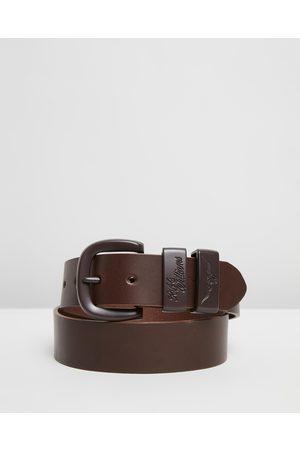 "R.M.Williams Men Belts - Drover 1 1 2"" Belt - Belts (Chocolate) Drover 1 1-2"" Belt"