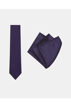 Buckle Micro Spot Tie & Pocket Square Set - Ties (Navy) Micro Spot Tie & Pocket Square Set