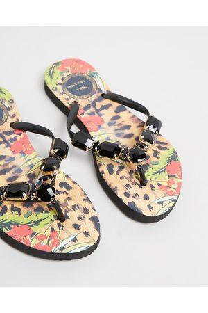 Nina Armando Kaulani - All thongs (Leopard Floral with Stones) Kaulani