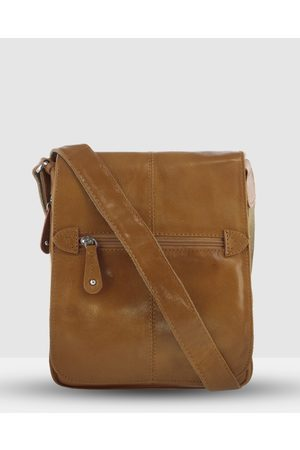 Cobb & Co Alex Leather Satchel - Tech Accessories (Tan) Alex Leather Satchel
