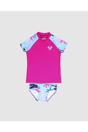 Conscious Swim Logo Rashie Surf Set Girls - Rash Suits (Magenta) Logo Rashie Surf Set - Girls