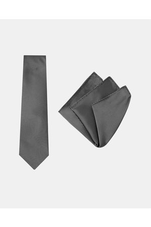 Buckle Pinstripe Tie & Pocket Square Set - Ties Pinstripe Tie & Pocket Square Set
