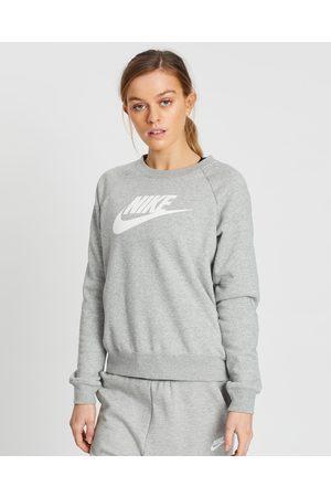 Nike Essential Fleece Crew - Sweats (Dark Heather & ) Essential Fleece Crew