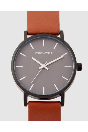 TONY+WILL Small Classic - Watches (GUN / / TAN) Small Classic