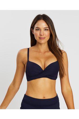 Sea Level Australia Cross Front Moulded Underwire Bra - Bikini Tops (Night Sky) Cross-Front Moulded Underwire Bra