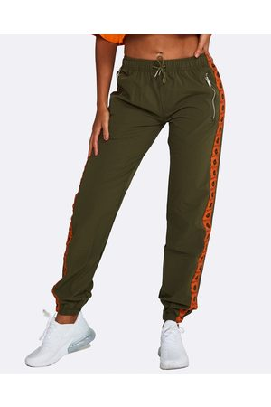 Nicky Kay Logo Track Pants - Sweatpants (Khaki) Logo Track Pants