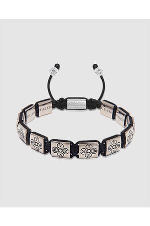 Nialaya Men's Dorje Engraved Flatbead Bracelet - Jewellery Men's Dorje Engraved Flatbead Bracelet