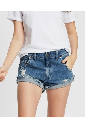 DRICOPER DENIM Slouchy Shorts - Denim (Mid Wash) Slouchy Shorts
