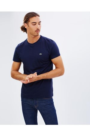 Lacoste Crew Neck Cotton Pima Tee - T-Shirts & Singlets (Navy) Crew-Neck Cotton Pima Tee