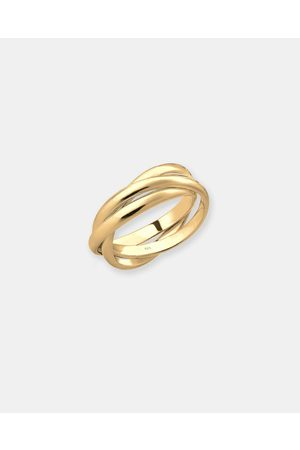 Elli Jewelry Ring Wrap Trio Basic 925 Silver Plated - Jewellery Ring Wrap Trio Basic 925 Silver Plated