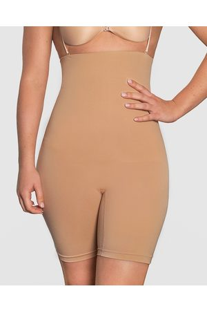 B Free Power Shaping Stay Up Shorts - Lingerie Accessories (Tan) Power Shaping Stay Up Shorts