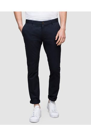 WAYVER Slim Stretch Chinos - Pants (Navy) Slim Stretch Chinos