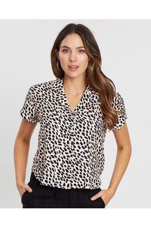 White By FTL Cass Shirt - Tops (Spring Animal) Cass Shirt