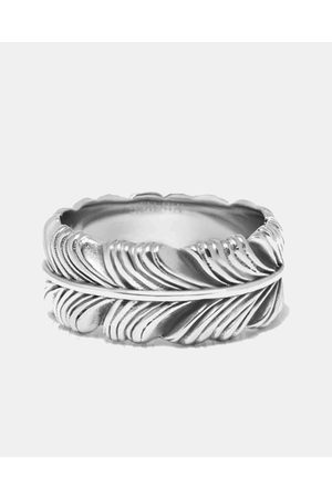 Nialaya Men's Feather Ring - Jewellery Men's Feather Ring