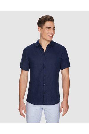 Yd. Lewis Linen Shirt - Shirts & Polos (DARK ) Lewis Linen Shirt