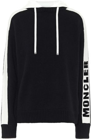 Moncler Hoodies - Logo wool and cashmere hoodie