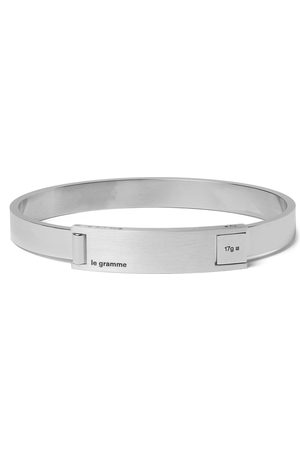 Le Gramme Men Bracelets - Assemblage Le 21 Brushed And Sterling Bracelet