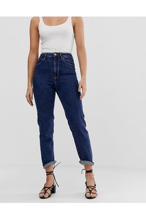 Stradivarius mom jean with stretch in blue