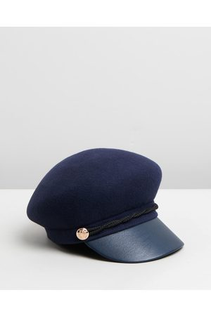 Max Alexander Felt Winter Captains Hat - Hats (Navy) Felt Winter Captains Hat