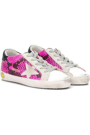 Golden Goose Girls Sneakers - Super Star snakeskin print sneakers