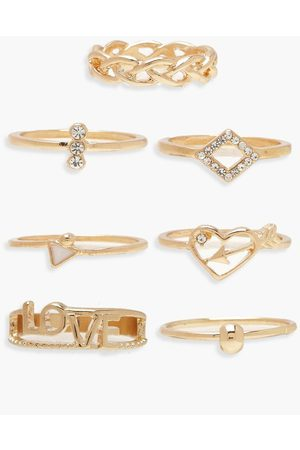 Boohoo Love Stack Ring Pack